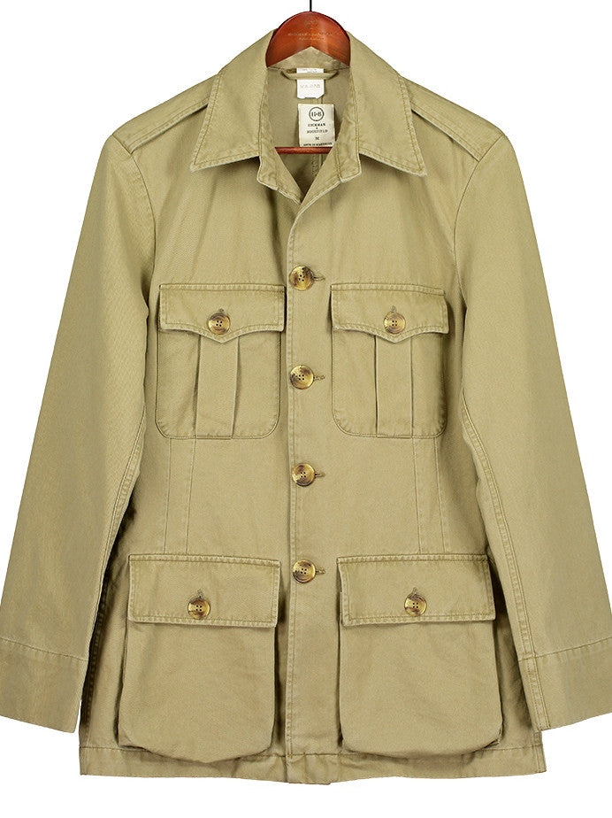 CLASSIC TAILORED SAFARI JACKET in Khaki Drill, Jacket, Hickman & Bousfield - Hickman & Bousfield, Safari and Travel Clothing