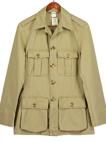 CLASSIC TAILORED SAFARI JACKET in Khaki Drill