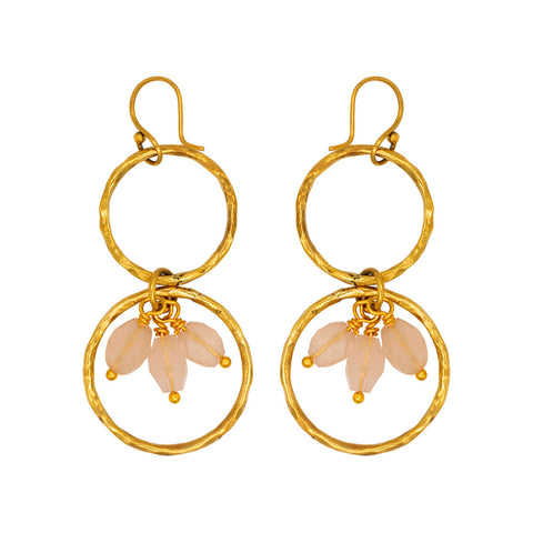 Ibo Earrings with Rose Quartz stones