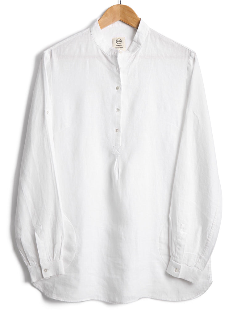NEW TUNIC IN WHITE LINEN, Shirt, Hickman & Bousfield - Hickman & Bousfield, Safari and Travel Clothing