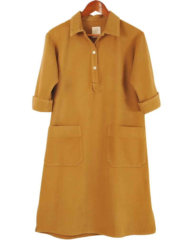 SAFARI SHIRTDRESS in BRUSHED COTTON TWILL, Hickman & Bousfield - Hickman & Bousfield