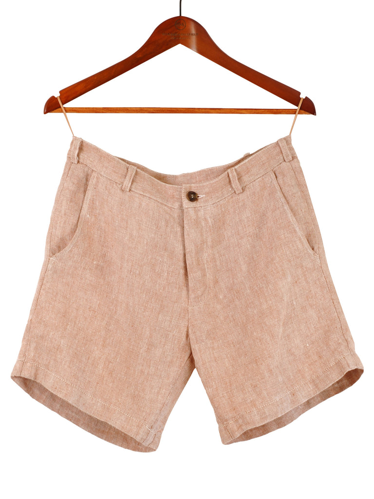 LINEN MIX 'TWEED' SHORTS, Hickman & Bousfield - Hickman & Bousfield, Safari and Travel Clothing