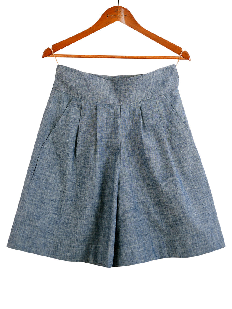 CHAMBRAY SHORT CULOTTES, Shorts, Hickman & Bousfield - Hickman & Bousfield, Safari and Travel Clothing