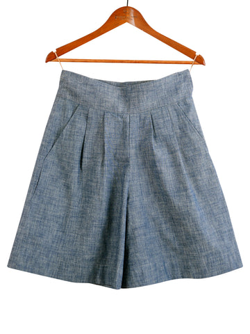 CHAMBRAY SHORT CULOTTES