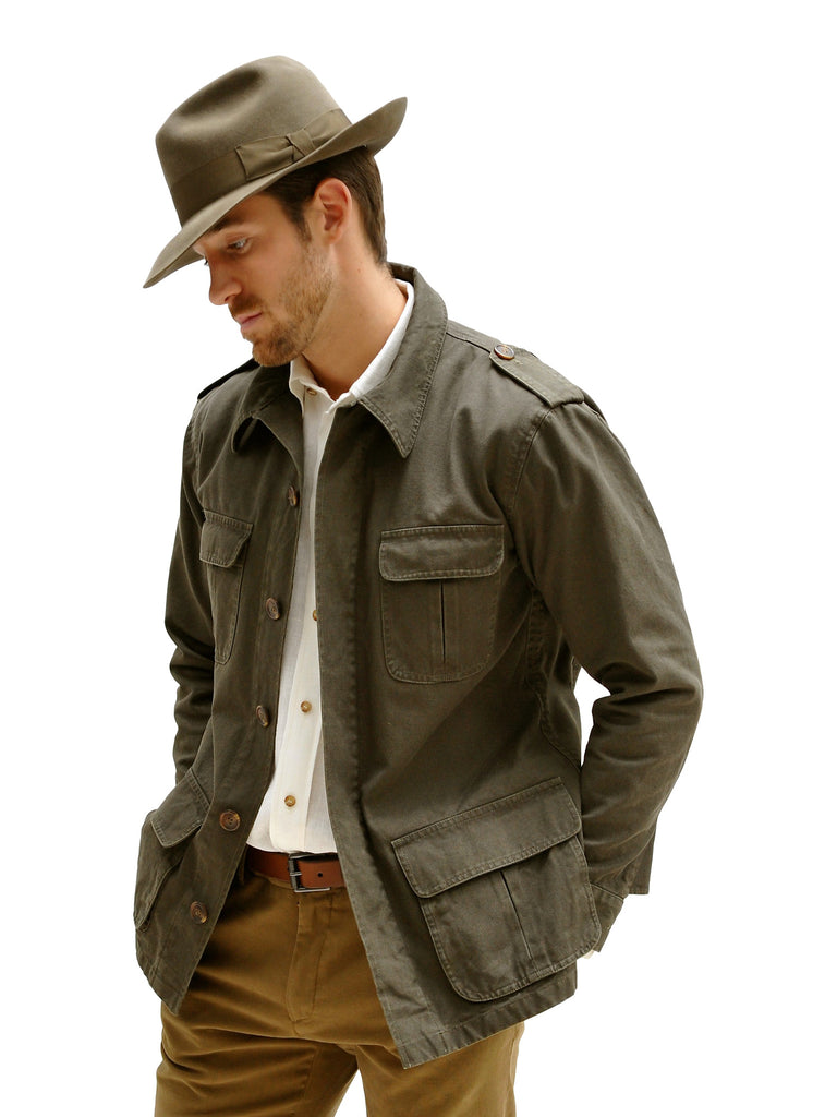 BUSH JACKET IN COTTON CANVAS, Jacket, Hickman & Bousfield - Hickman & Bousfield, Safari and Travel Clothing