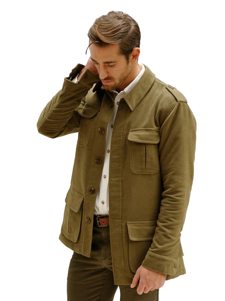 BUSH JACKET IN COTTON MOLESKIN, Jacket, Hickman & Bousfield - Hickman & Bousfield, Safari and Travel Clothing