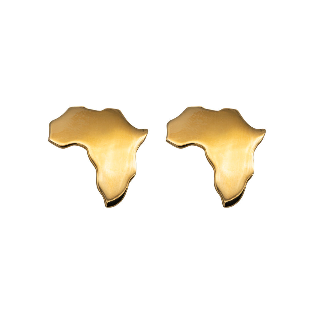 Gold plated Africa cufflinks