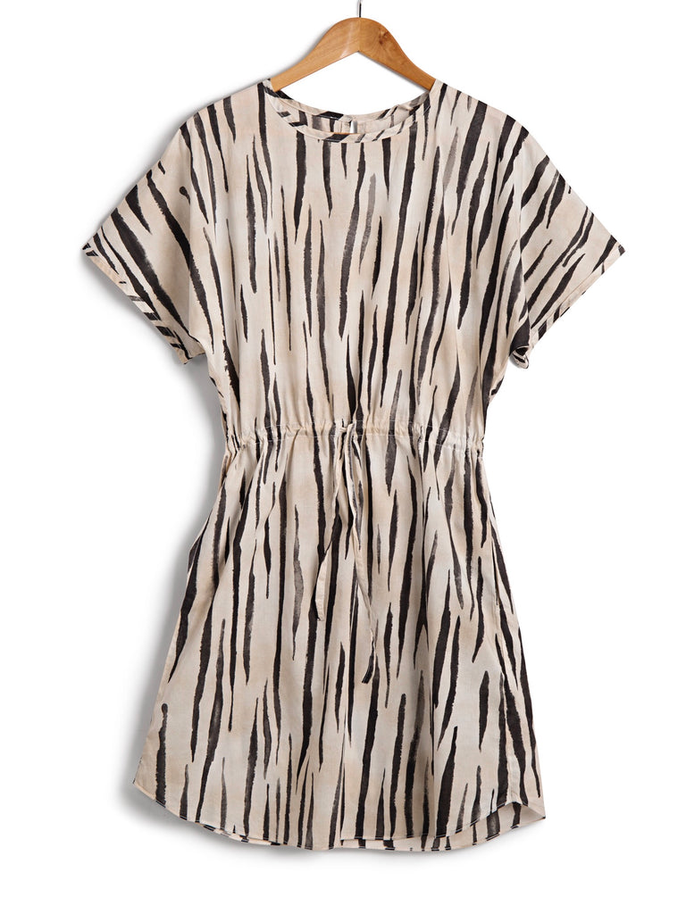 Short Kaftan in Zebra, Dress, Hickman & Bousfield - Hickman & Bousfield, Safari and Travel Clothing