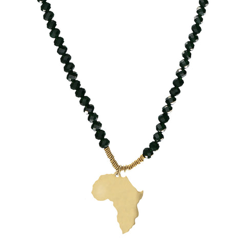 Large Africa Pendant Necklace