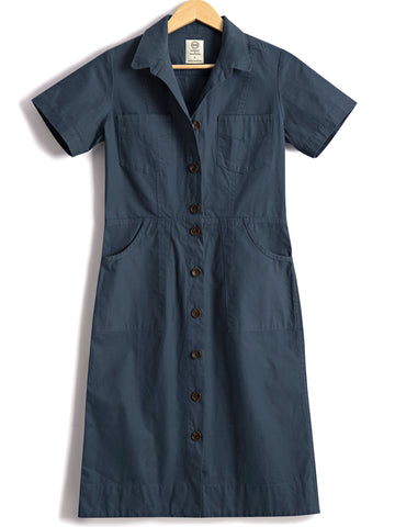 Classic Safari Dress in Dutch Blue