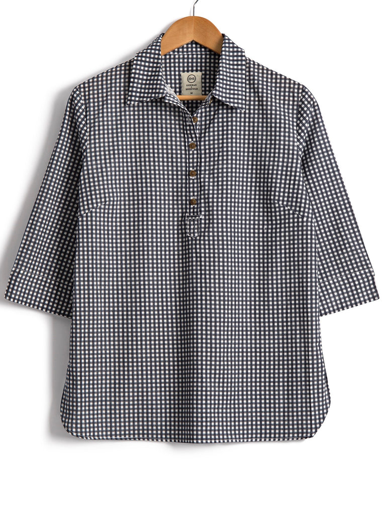Safari Shirt in Cotton Gingham