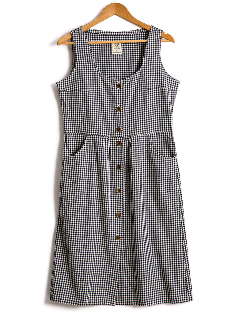 Sundress in Gingham Cotton, Dress, Hickman & Bousfield - Hickman & Bousfield, Safari and Travel Clothing