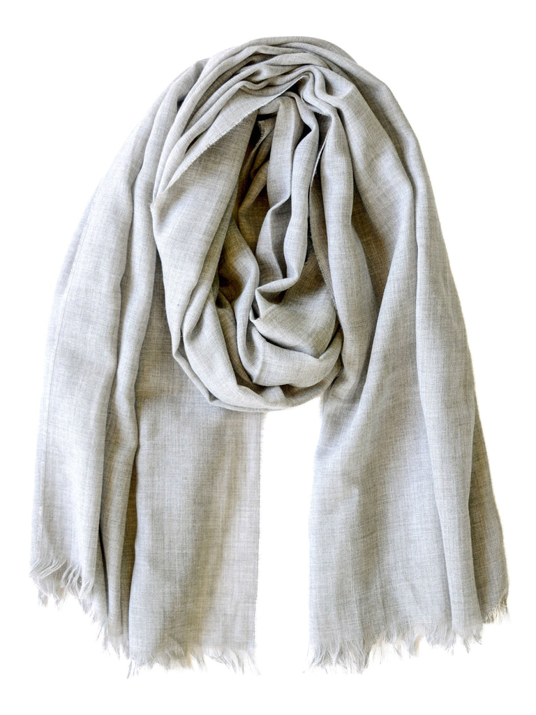 Lightweight Merino Scarf - Silver, Scarves, Hickman & Bousfield - Hickman & Bousfield, Safari and Travel Clothing