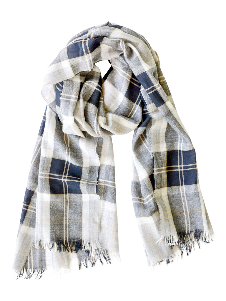Lightweight Merino Scarf - Silver Bannockbane, Hickman & Bousfield - Hickman & Bousfield, Safari and Travel Clothing