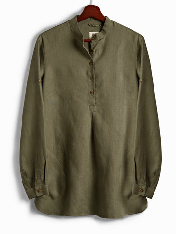 New Tunic in Olive Linen