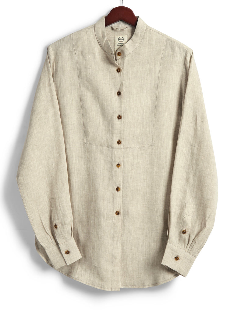 Bib Shirt, Natural Linen, Shirt, Hickman & Bousfield - Hickman & Bousfield, Safari and Travel Clothing