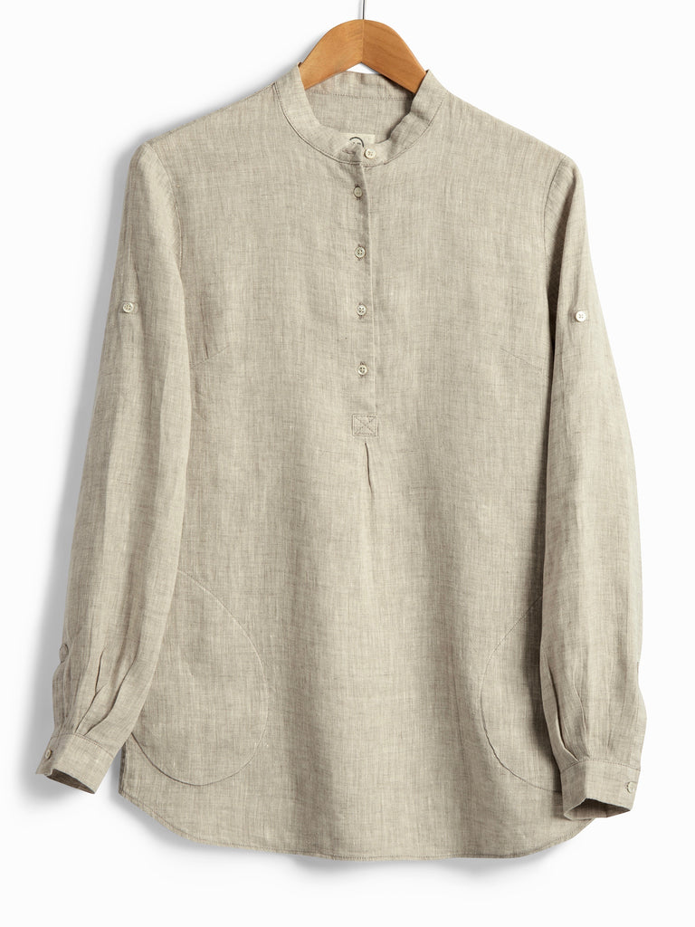 NEW TUNIC IN NATURAL LINEN, Shirt, Hickman & Bousfield - Hickman & Bousfield, Safari and Travel Clothing