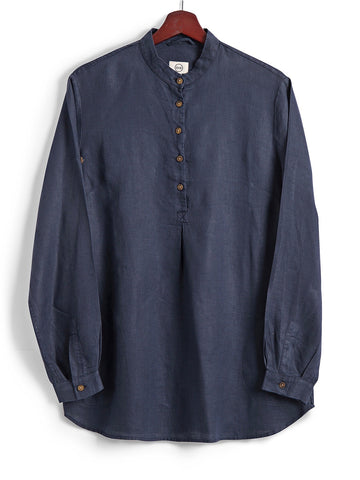 New Tunic in Navy Linen