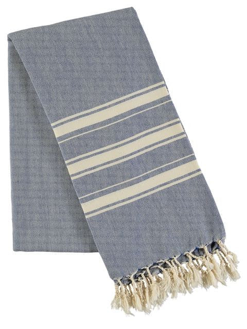 Haman Towel - Royal Blue, beach wrap, Ailera - Hickman & Bousfield, Safari and Travel Clothing