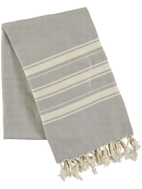 Haman Towel - Grey, beach wrap, Ailera - Hickman & Bousfield, Safari and Travel Clothing