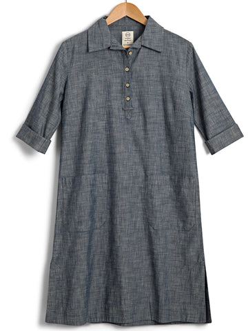 Safari Shirtdress in Chambray