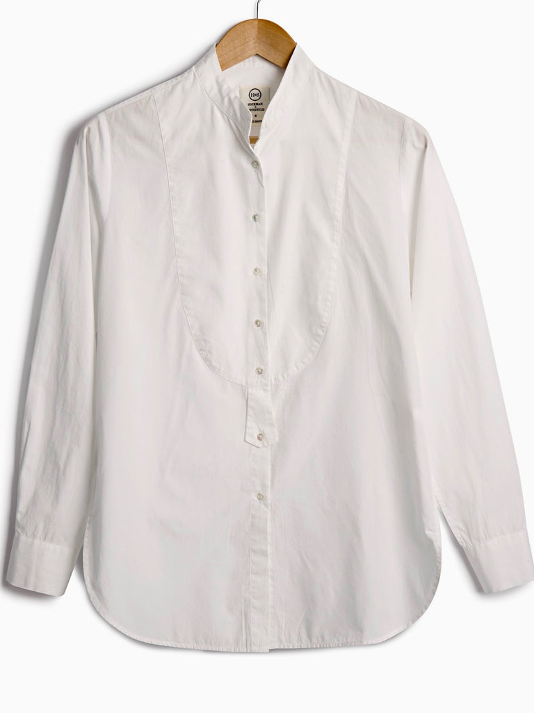 DRESS SHIRT IN WHITE POPLIN, Shirt, Hickman & Bousfield - Hickman & Bousfield, Safari and Travel Clothing