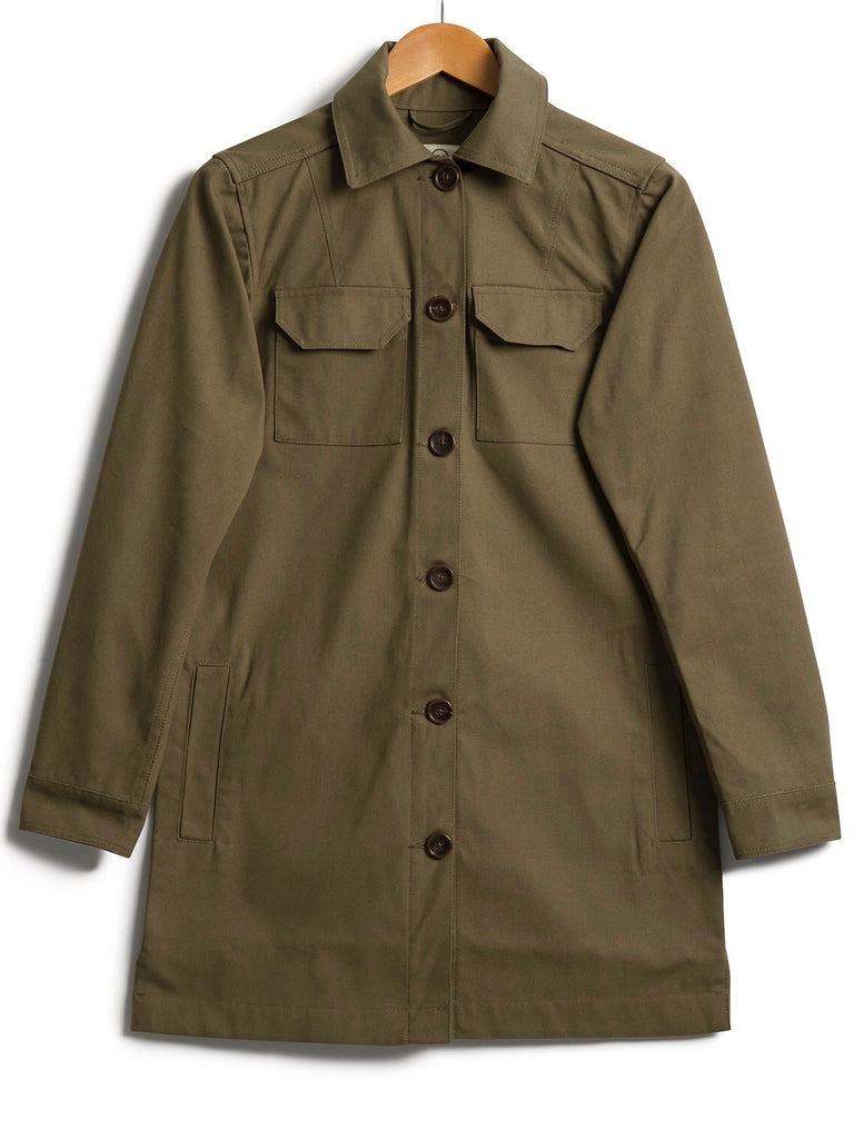 Cotton Canvas Shacket, Jacket, Hickman & Bousfield - Hickman & Bousfield, Safari and Travel Clothing