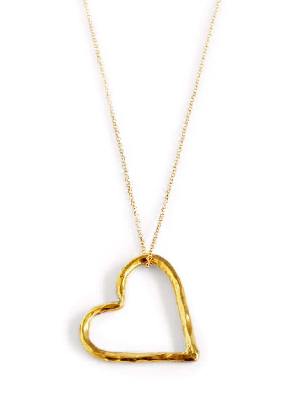 Large heart necklace hickman bousfield mozeypictures Choice Image