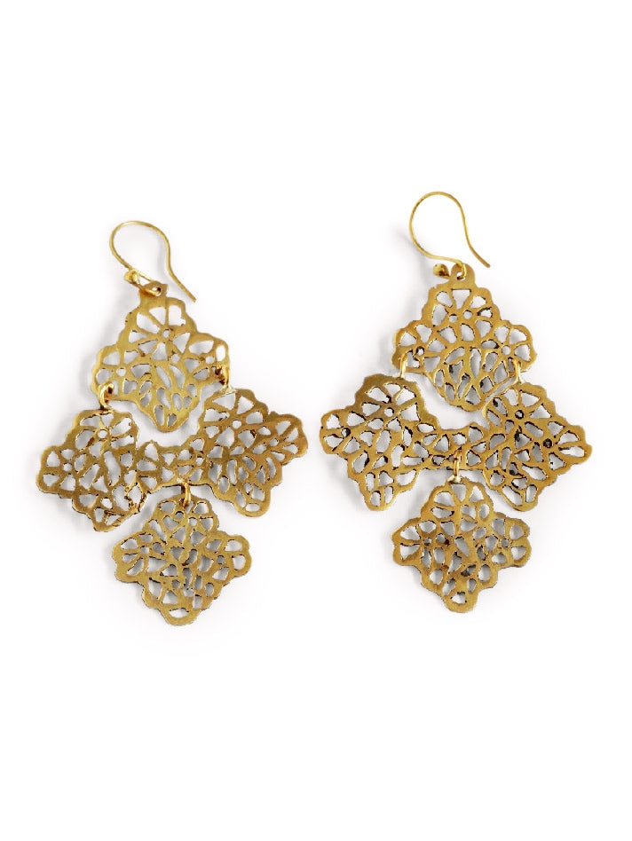 Lace Earrings, Jewellery, Soul Design - Hickman & Bousfield, Safari and Travel Clothing