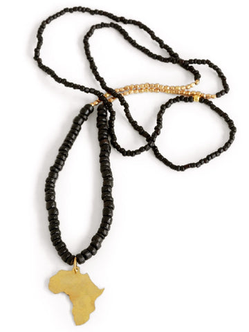 Swahili Africa Necklace, Ebony Hues