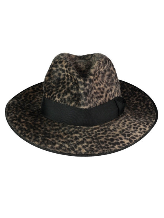 Ocelot Print FEDORA, Hats, Hickman & Bousfield - Hickman & Bousfield, Safari and Travel Clothing