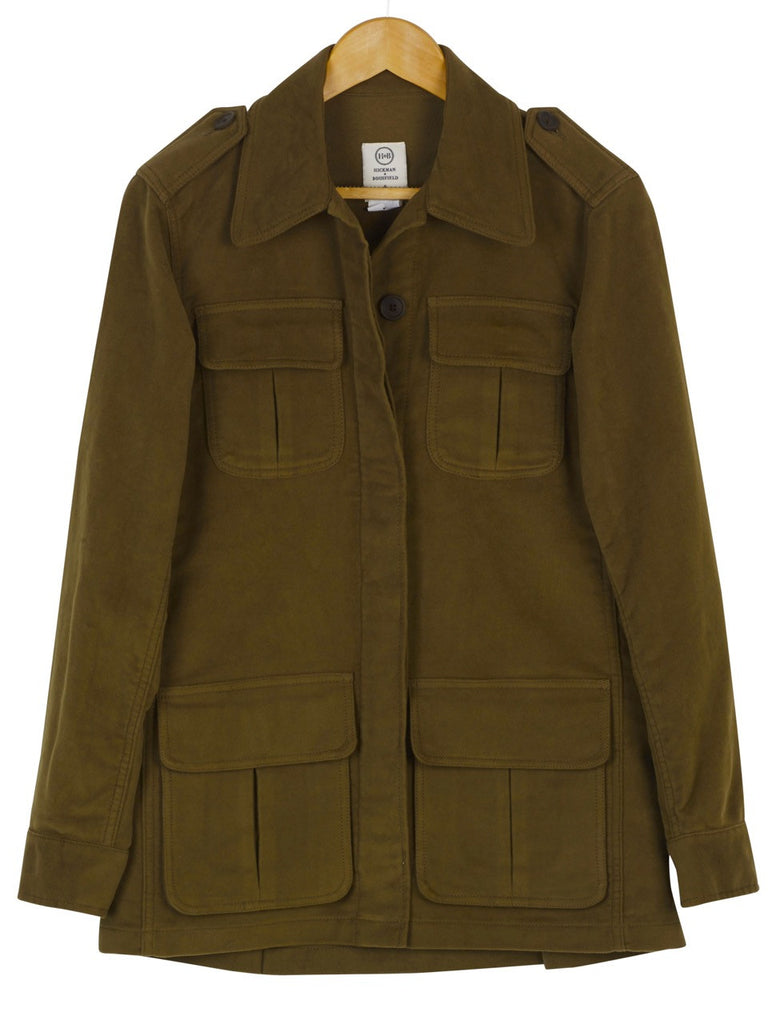 MOLESKIN FIELD JACKET - Lovat, Jacket, Hickman & Bousfield - Hickman & Bousfield, Safari and Travel Clothing