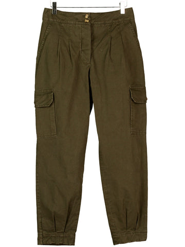 CARGO PANTS IN BARK TWILL