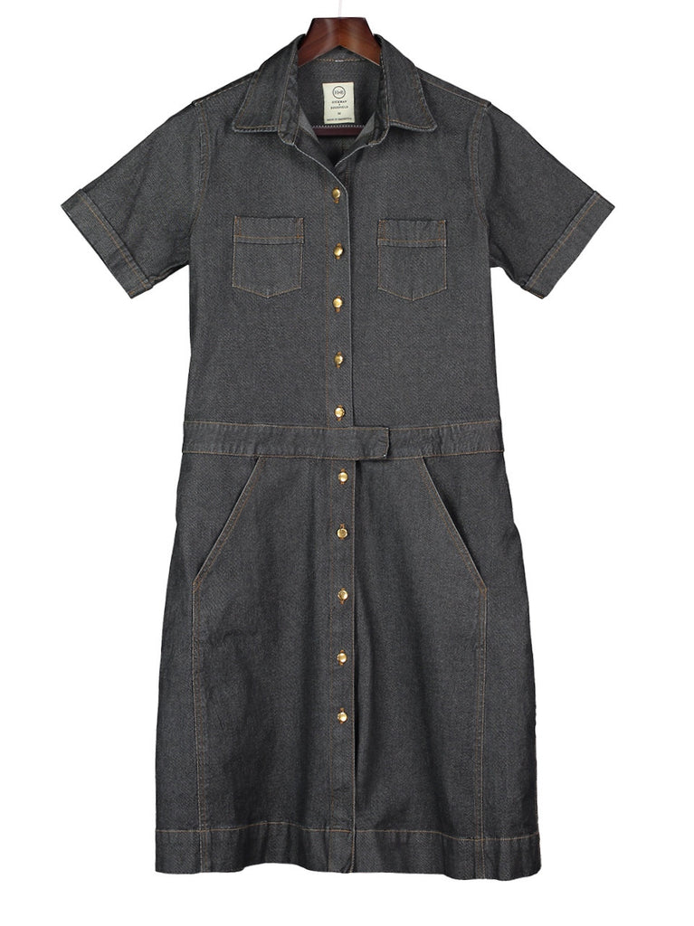 Classic Safari Dress - Denim, Hickman & Bousfield - Hickman & Bousfield, Safari and Travel Clothing