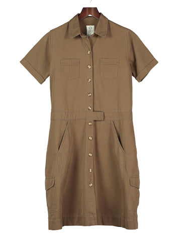 Classic Safari Dress - Taupe