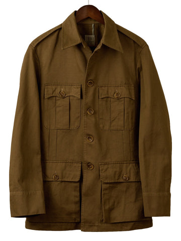 CLASSIC TAILORED SAFARI JACKET in Drab Drill