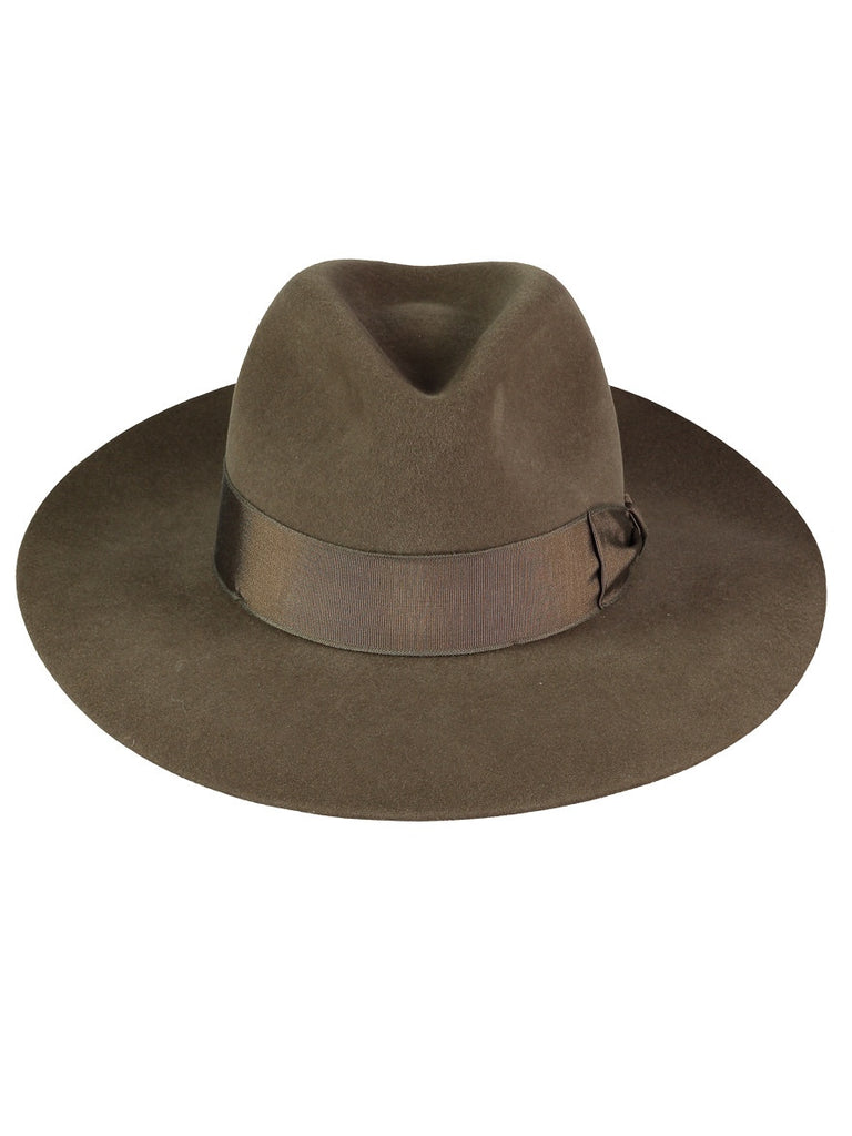 Dark SAGE FEDORA, Hats, Hickman & Bousfield - Hickman & Bousfield, Safari and Travel Clothing