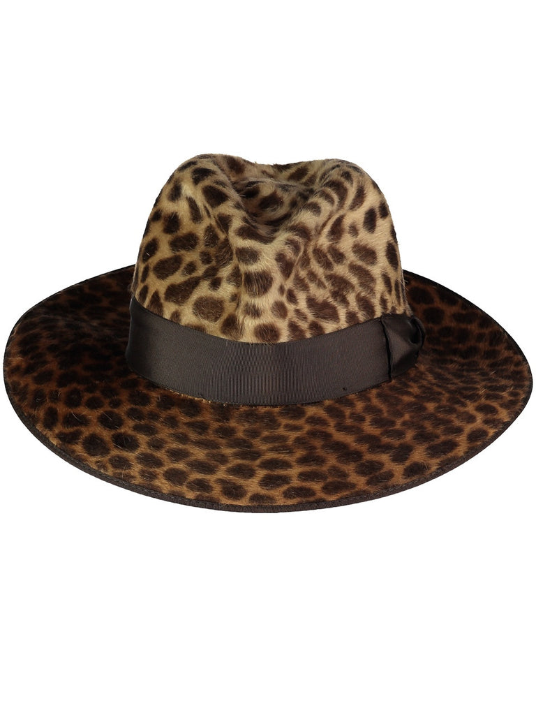 Animal Print FEDORA, Hats, Hickman & Bousfield - Hickman & Bousfield, Safari and Travel Clothing