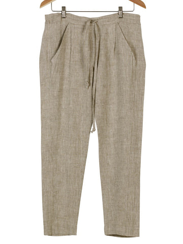 Draw-String Linen Pants