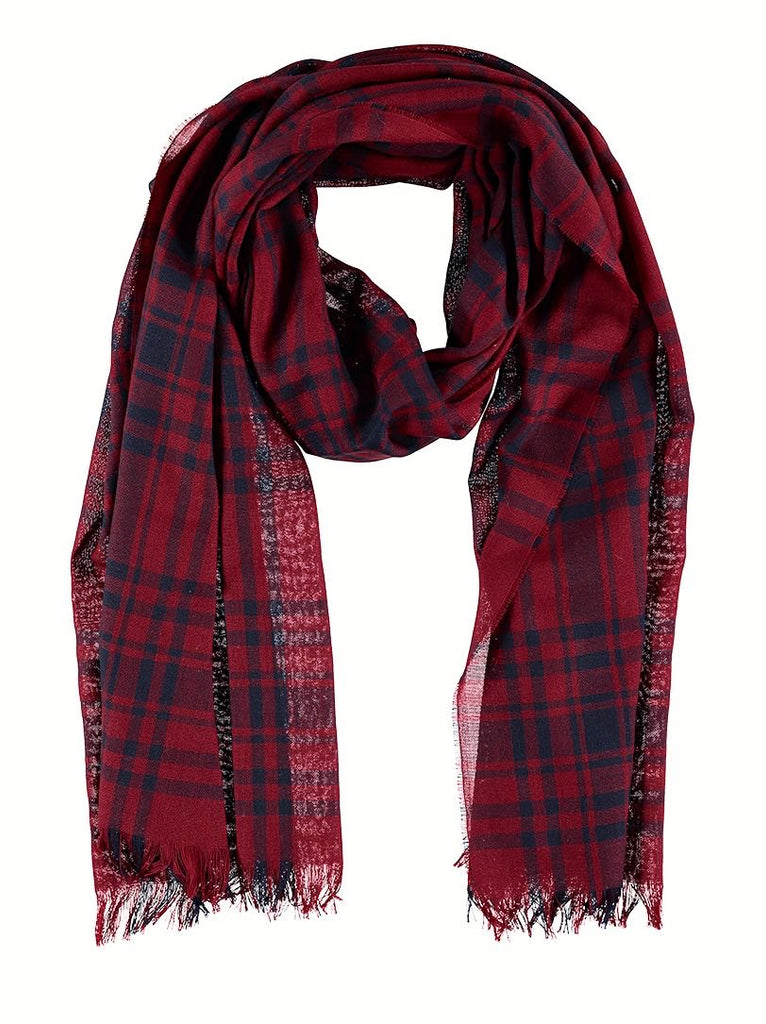 Lightweight Merino Scarf - Tribal Check, Scarves, Hickman & Bousfield - Hickman & Bousfield, Safari and Travel Clothing
