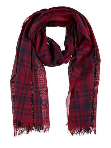 Lightweight Merino Scarf - Tribal Check