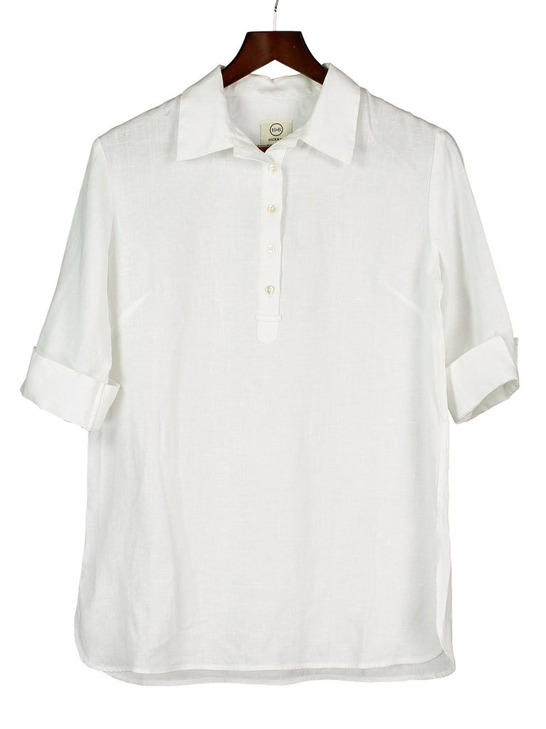 SAFARI SHIRT IN WHITE LINEN, Hickman & Bousfield - Hickman & Bousfield, Safari and Travel Clothing