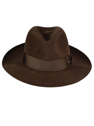 FUR FELT TRILBY IN BARK