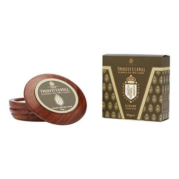 Luxury Shaving Soap + Wooden Bowl - Jabón de afeitado y bol de madera - Truefitt & Hill at Barbazul - 1