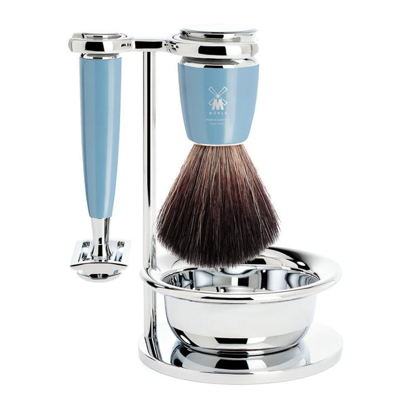 Rytmo Shaving Set Fjord Blue - Set de Afeitado - Mühle at Barbazul - 1