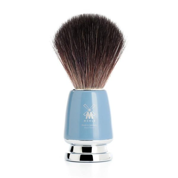 Rytmo Shaving Brush Black Fibre® High Grade Blue- Brocha de afeitado - Mühle at Barbazul