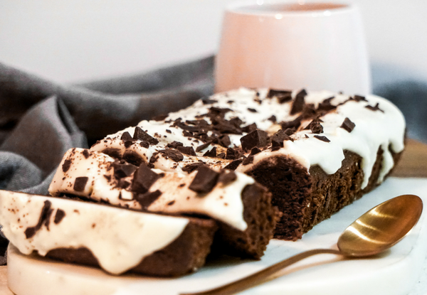 One Bowl Gluten Free Chocolate Cake with Coconut Vanilla Icing