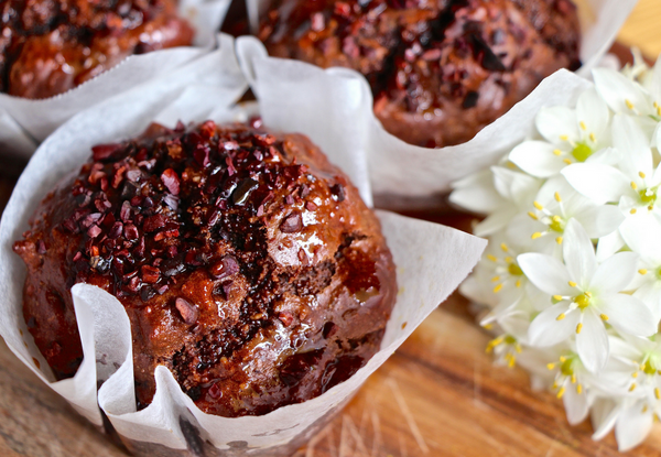Orange & Cacao Syrup Muffins