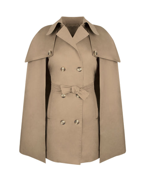 Darcey  Trench Cape in Beige