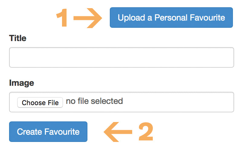 Upload your own files to favourites